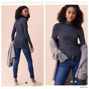 Lou & Grey striped knit turtle neck